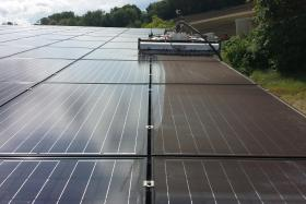 clean solar roofs